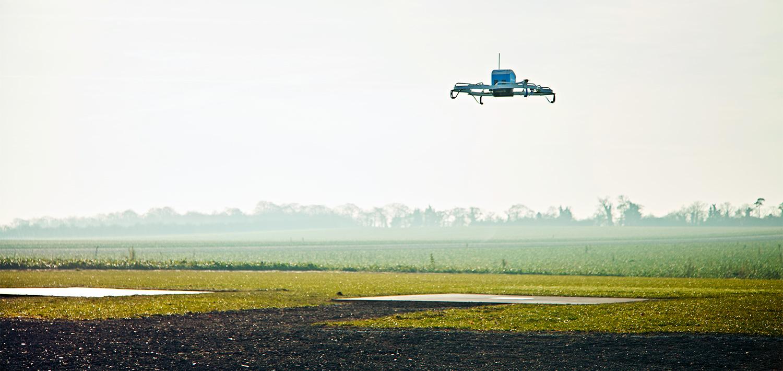 Amazon drone lands