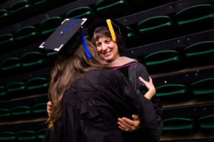 Professor Margarita Lenk at graduation with student