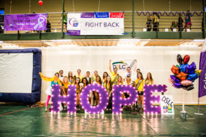 Joe and CSU classmates at Relay for Life