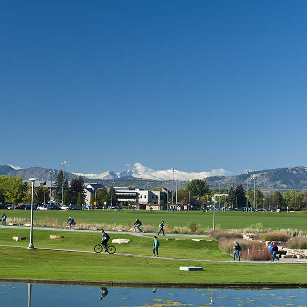 CSU's campus with mountain views