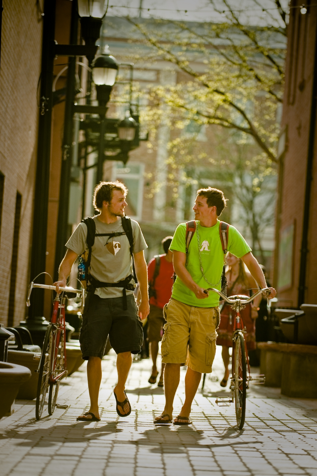 Students in Old Town Fort Collins