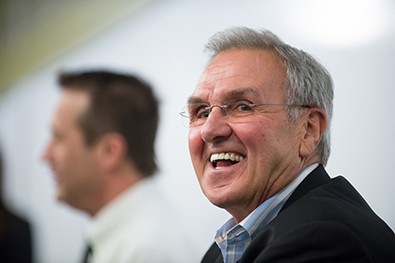 Sonny Lubick smiling
