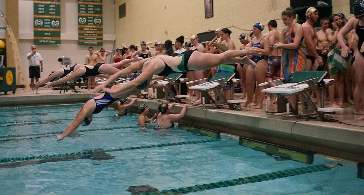 Emilie Rosa swim practice