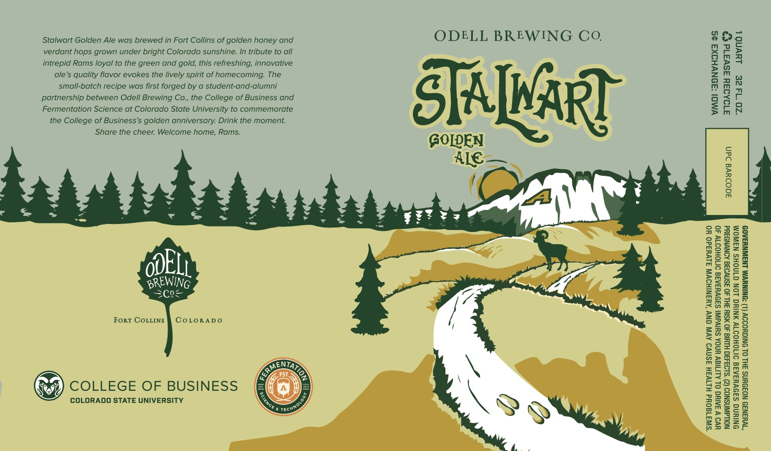 New Stalwart Ale label