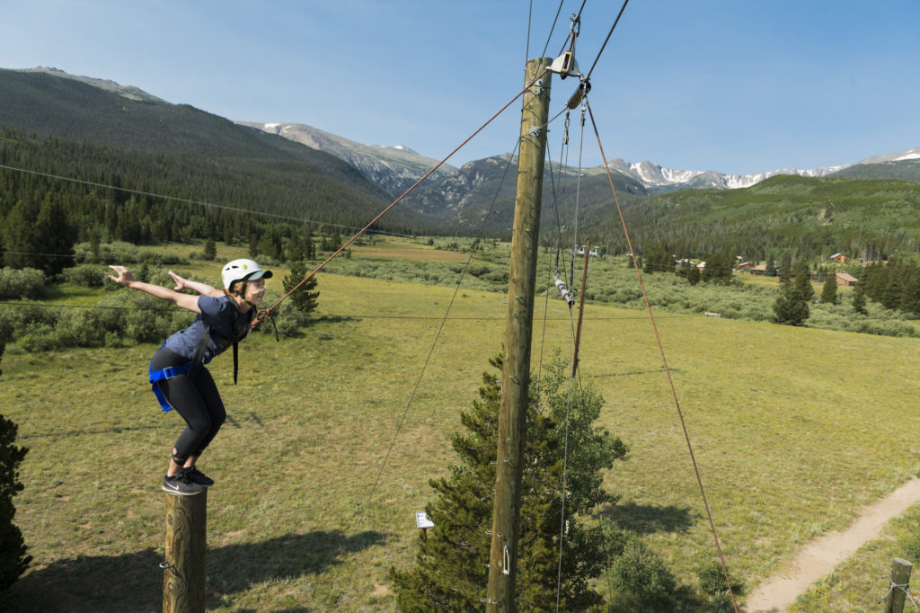Students take part in CSU Mountain Campus Ropes Course
