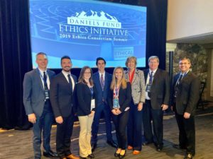 College of Business faculty and students at the 2019 Daniels Fund Ethics Consortium Summit