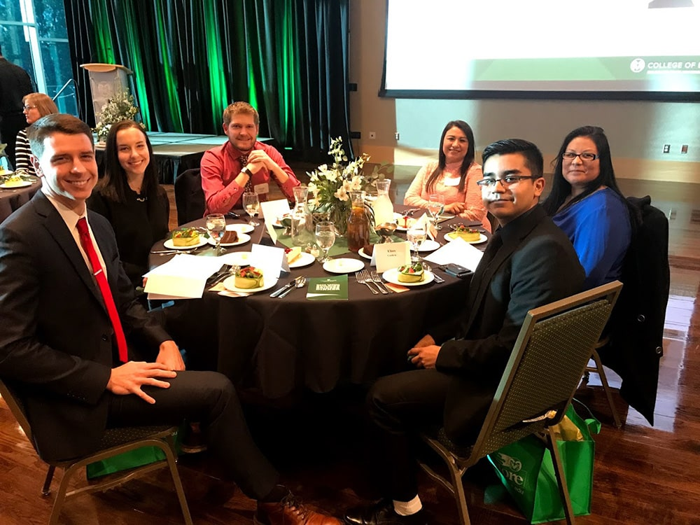 Students at the Sixth Annual Building Bridges Dinner