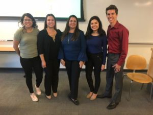 Latinx Business Association leadership team with Geraldine Ortiz