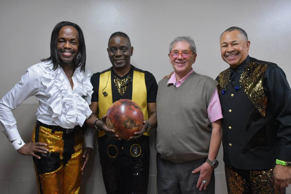 Chuck with Earth Wind and Fire