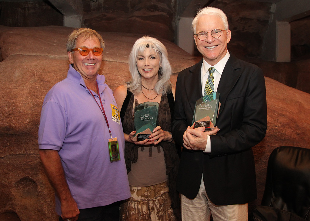 Chuck with Emmy Lou Harris and Steve Martin