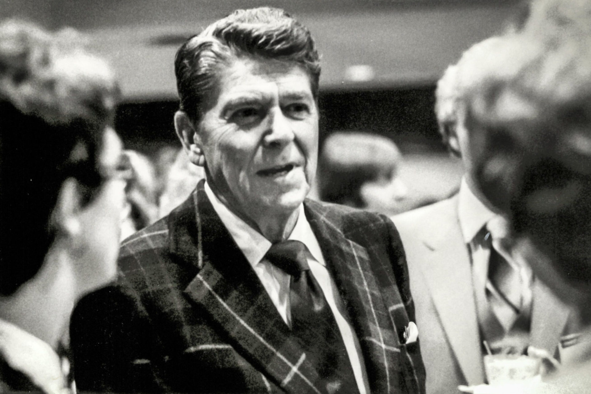 Reagan At The First Business Day 1979