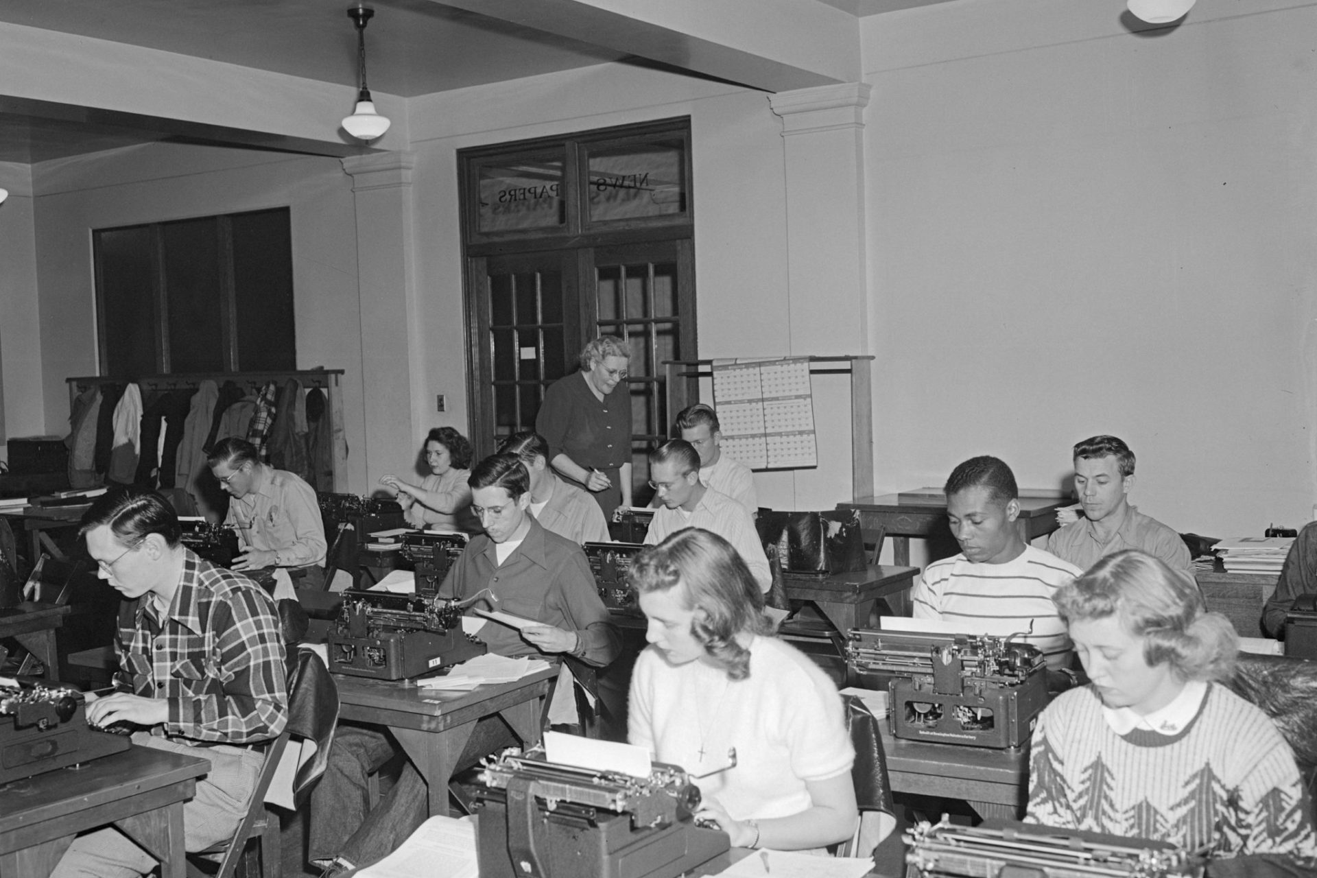 Photo of Typing Class taken on November 15, 1948.