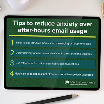 Tips for managing after-hours communications