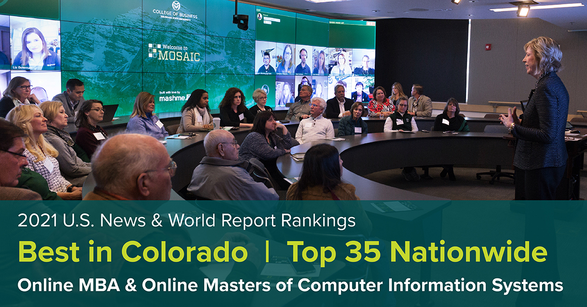 CSU Online MBA and Online MCIS Best in Colorado
