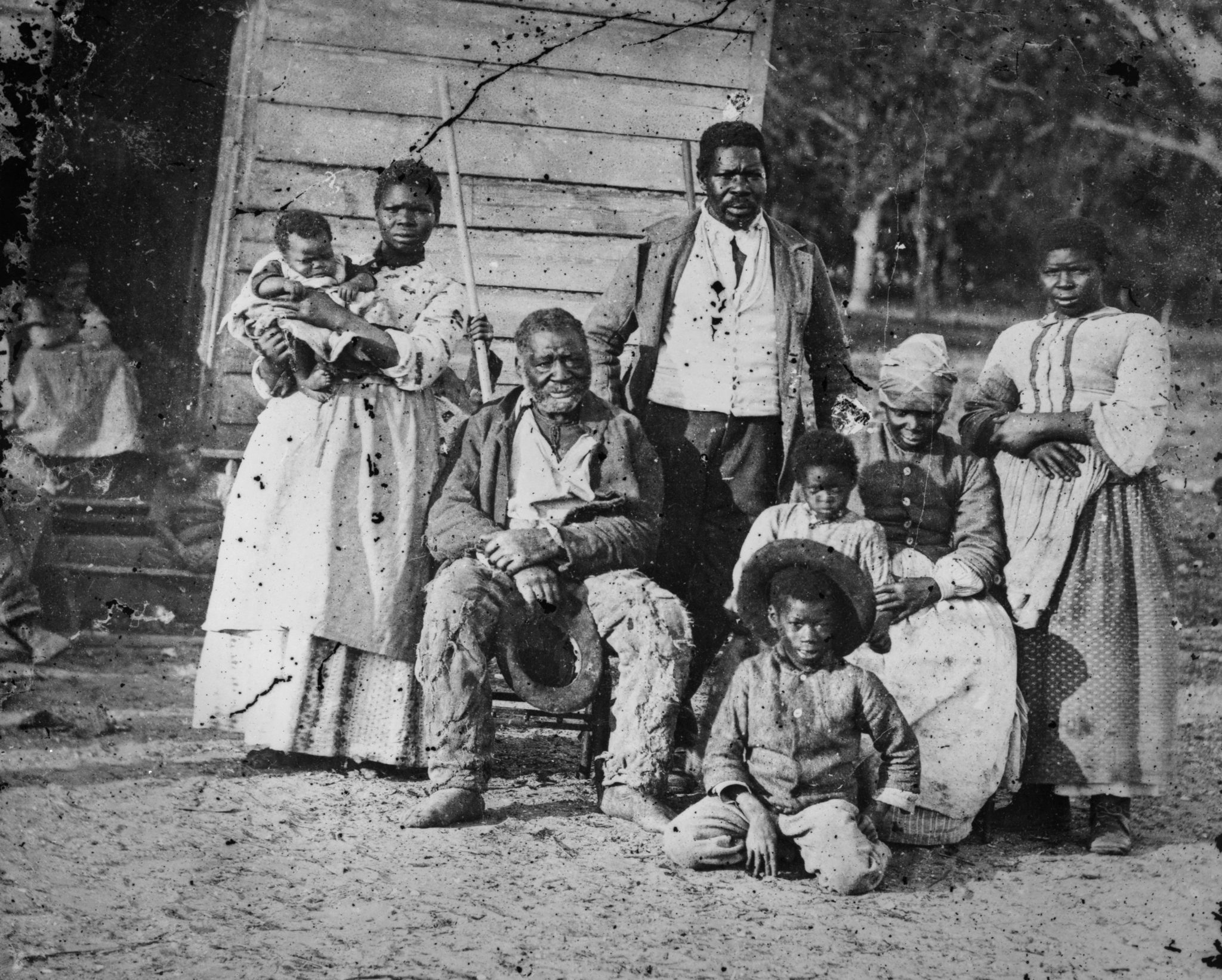 Group photograph of a family on a slave plantation