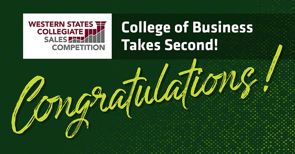 Congratulations, competitors