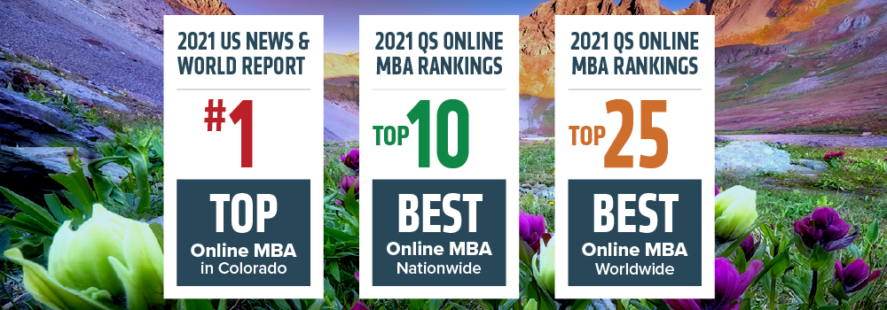 Online MBA ranks number 1 in Colorado, Top 10 in the nation, and top 25 worldwide